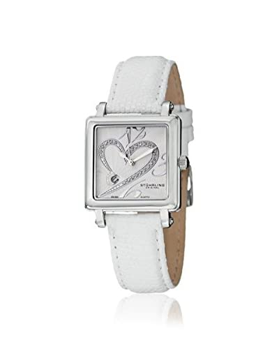 Stuhrling Women's 253.1115P2 Courtly White Leather Watch