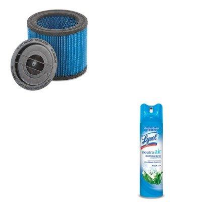 Kitrac76938Easho9039700 - Value Kit - Shopvac Ultra-Web Cartridge Filter For Hangup Vacs (Sho9039700) And Neutra Air Fresh Scent (Rac76938Ea) front-549103