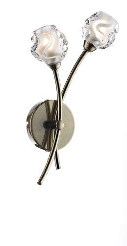 Seattle Semi-Plafonnier - 2 lumières-Finition laiton Antique