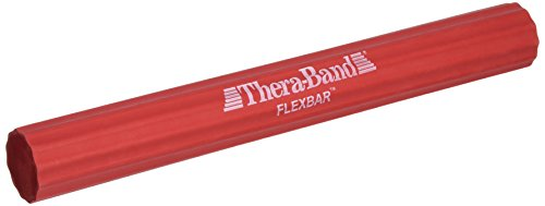 Thera-Band Flexbar Resistance Bar For Grip Strength, Golfers Elbow, Tendonitis, Beginner Level 2, Light, Red (Packaging May Vary)