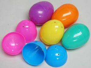Easter Eggs - Plastic Bright Egg Assortment (144 pc) from Fun Express
