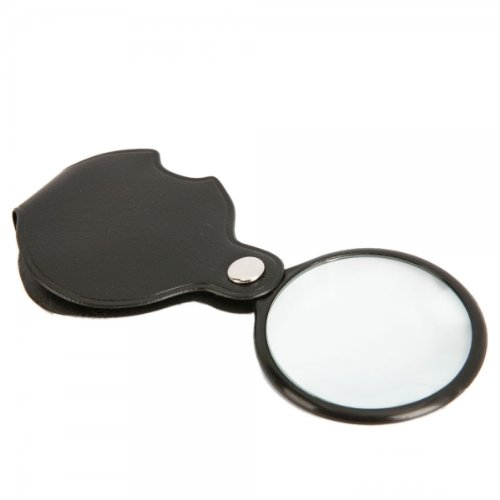 8X High-definition Optical Glass Lenses Mini Pocket Folding Glass Magnifier