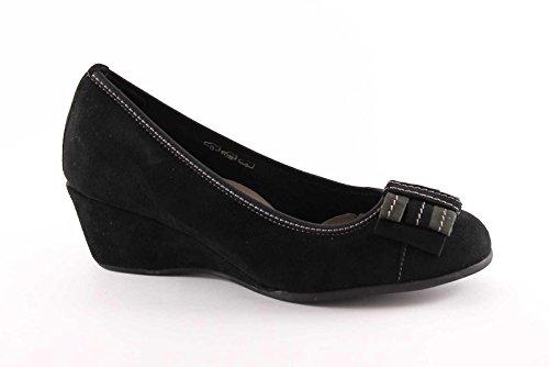 GRUNLAND AIKO SC1551 nero scarpe donna decolletè zeppetta 40