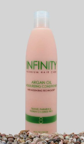 INFINITY Premium Hair Care Argan Oil Moisturizing Conditioner with Hydrating Technology: Sulfate, Paraben, and Sodium Chloride Free, 12 FL OZ/ 350 ML