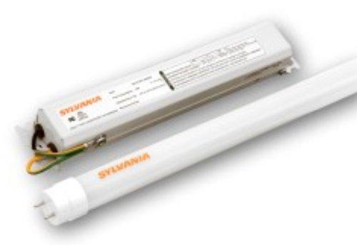 Sylvania 71435 Led11T8L24/F/1X2Ho/841/Unv Ultra Led T8 Ho Retrofit Kit, 2Ft 4100K, 2 Lamp And 1 2-Channel Driver
