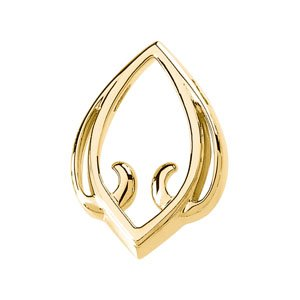 Genuine IceCarats Designer Jewelry Gift 14K Yellow Gold Pendant Enhancer. Enhancer Pendant Enhancer In 14K Yellow Gold