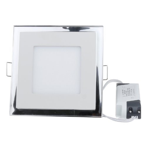 S6Store® 10W Ac100~265V Square Cold White Acrylic Crystal Led Panel Recessed Ceiling Downlight Bulb Lamp