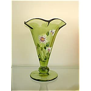 Green Vase | Fenton Glass Collectibles For Sale
