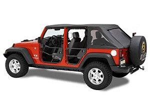 Bestop 51810-01 Black HighRock 4X4 Element Door Set for Wrangler JK including Unlimited - Front doors