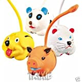 Animal toy balls latex with long tail - with sound (One Ball)
