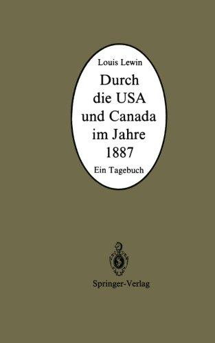 Durch die USA und Canada im Jahre 1887: Ein Tagebuch (German Edition)