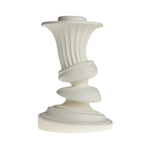 AREAWARE - Distortion Candlestick SM Fluted white / Kerzenhalter weiss