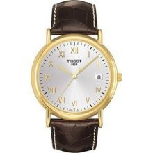 Tissot T9074101603300 Watch Carson Mens - Silver Dial Gold 18 Carats Case Quartz Movement