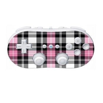Nintendo Wii Controller Skin- Pink Plaid