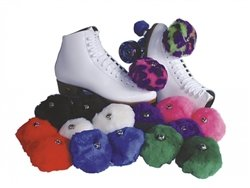 Skate Out Loud-Roller Skate Pom Poms Solid color:White