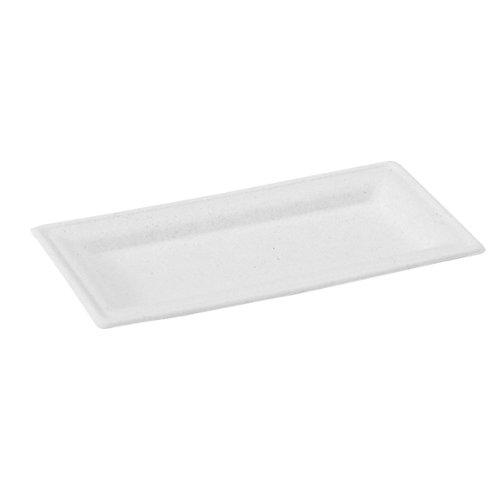 Packnwood sugarcane rectangular plate 10 2 x 5 1 white for Xnxx in the kitchen