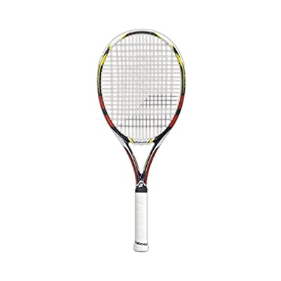 Babolat 140151-193 Aeropro Drive RG/FO Strung Tennis Racquet, Grip 0 (Black/Clay)