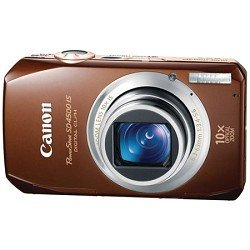 Canon PowerShot SD4500 IS 10 MP CMOS 10x Optical Image Stabilized Zoom with Full-HD Video and 3.0-Inch LCD Digital Camera (Brown)