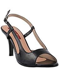 Citywalk Shoes Women's Black Synthetic Heels (113_Black_10) - 10 UK