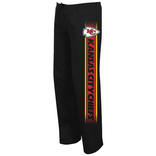 NFL Kansas City Chiefs Women's Lateral Spirit III Sweatpants - Black (Small) at Amazon.com