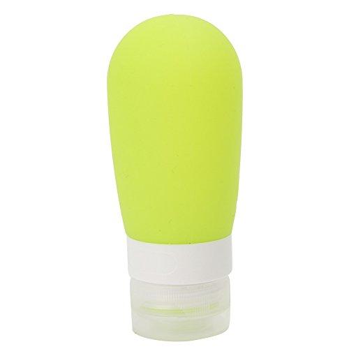 80ml Bouteille Squeeze Silicone Flacon Pompe Vert de Gel de Douche Maquillage pour Voyage