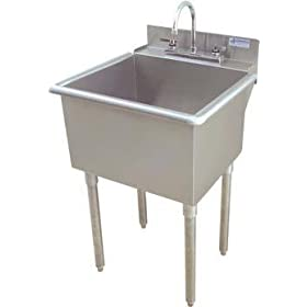 Griffin LT-118 21?? x 18?? Utility Sink, Stainless Steel