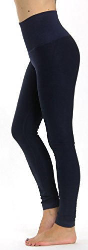 Prolific Health High Compression Women Pants Yoga Fitness Leggings (Medium/Large, Navy Blue)