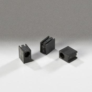 Led Mounting Hardware Led Holder Black Single Level 3Mm (1 Piece)
