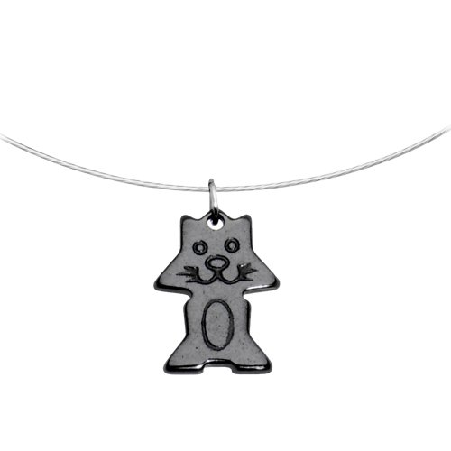 Hemalyke Kitty Cat Choker Necklace