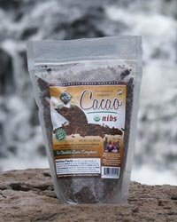 Cacao Nibs, Raw, Certified Organic, from Ecuador or Peru, 1 lb.