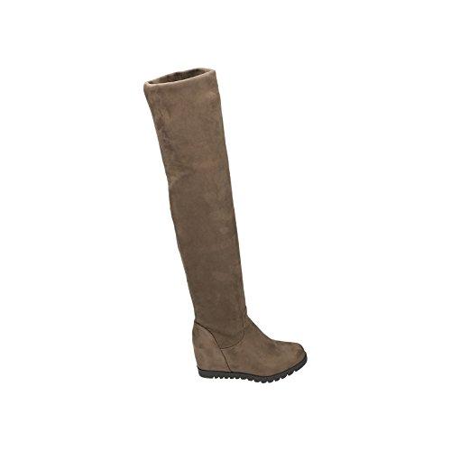 Jumex - Stivali classici Donna , kaki (cachi), 41