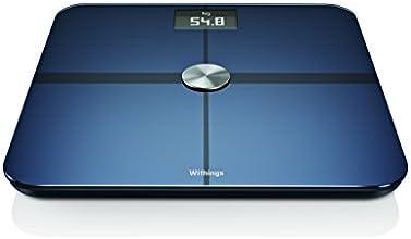 【日本正規代理店品】 Withings ネットワーク対応 体重計 Smart Body Analyzer WS-50 ( Bluetooth Wi-Fi 機能搭載 / 超薄型 / 体重 / 体脂肪 / 心拍数 / 室内環境 ) ブラック 70023101
