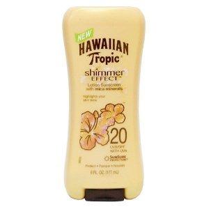 Hawaiian Tropic Shimmer Effect Lotion Sunscreen SPF 20 - 6 OZ