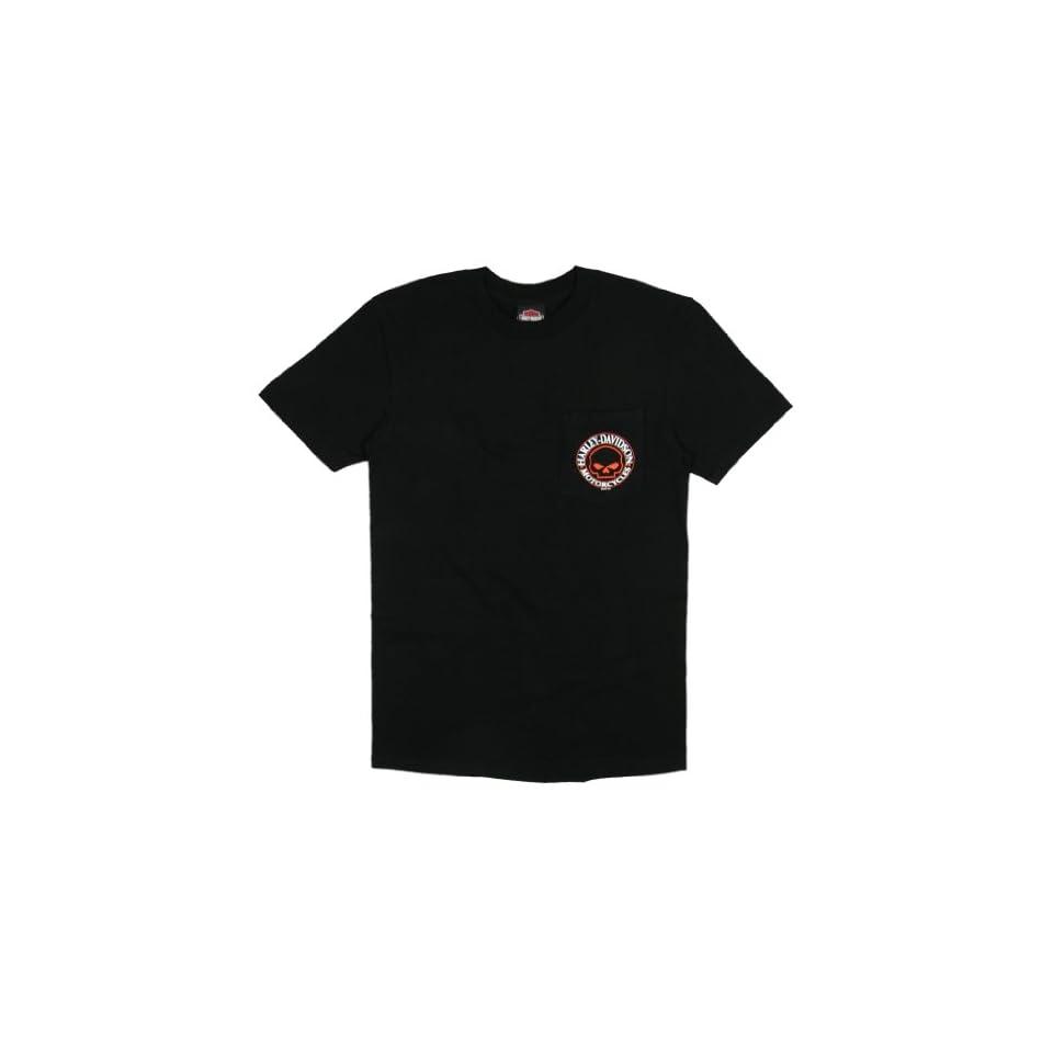 Maui Harley Davidson Mens Skull Laborer Black Short Sleeve Pocket T Shirt   3XL