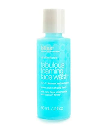 bliss Fabulous Foaming Face Wash 2-in-1 Cleanser and Exfoliator, 2 fl. oz.