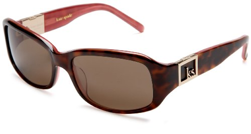 Kate Spade Women'S Marli Plastic Sunglasses,Tortoise Pink Frame/Brown Polarized Lens,One Size