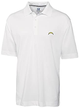 NFL San Diego Chargers Mens DryTec Championship Polo Shirt by Cutter & Buck