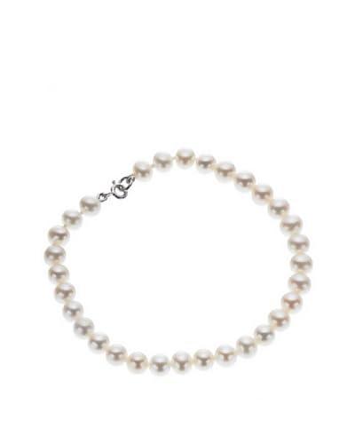 Le Perle Di Emi Kaway Bracciale Oro Bianco 18K Perle 6-6,50 mm [Bianco]