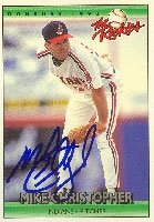 Mike Christopher Cleveland Indians 1992 Donruss The Rookies Autographed Hand Signed... by Hall+of+Fame+Memorabilia