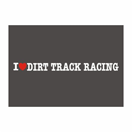 Teeburon I love Dirt Track Racing Pack of 4 Decal