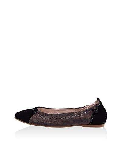 Lizza Shoes Bailarinas Lz-6705 Negro / Gris