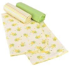 Koala Baby 3-Pack Receiving Blankets - Hippo - 1