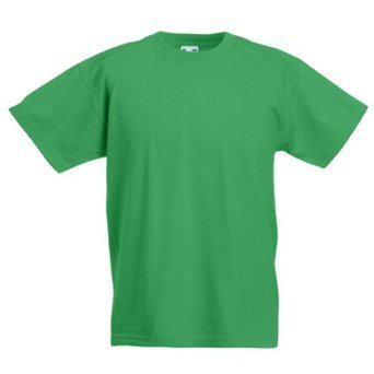 Fruit Of The Loom Boy's SS132B Short Sleeve T-Shirt, Green (Kelly Green), Large (Manufacturer Size:32)