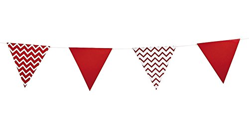 Cardboard Red Chevron Pennant Banner - 1