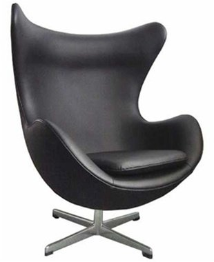 Fine Mod Inner Leather Chair, Black at Sears.com
