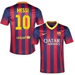2013-14 Messi #10 Barcelona Home Jersey. Size Men (Large) by BARCA