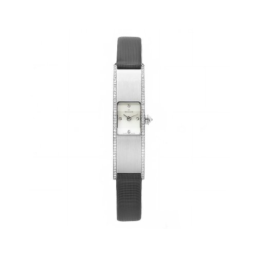 Milus Women's ERI018 Eridana Black Strap Mother-of-Pearl Dial Watch