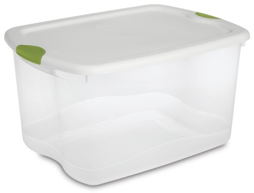 Sterilite 66-Quart See-Through Storage Box with Latching Lid, Set of 4