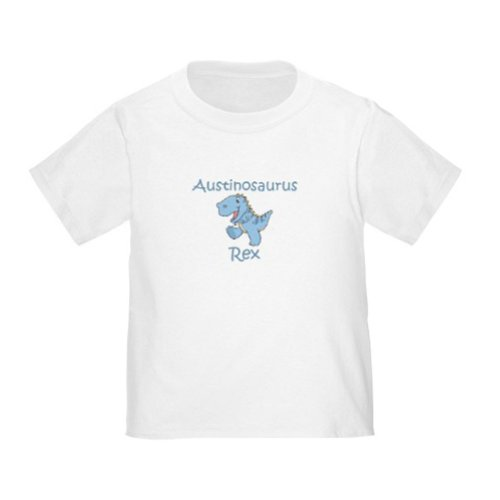Personalized Austin Austinosaurus Rex Dinosaur Baby Infant Toddler Kids Shirt - Customize With Any Boy Or Girls Name, Christmas Present Custom Gift Collection front-899214