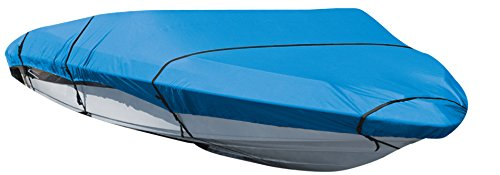 Leader Accessories Waterproof Mooring Trailerable Inboard Outboard Tri-hull V-hull Runabout Boat Cover Fits Fish,ski,pro-style Bass Boats (Navy Blue-ShoreMaster, 17'-19'L Beam Width up to 96'')